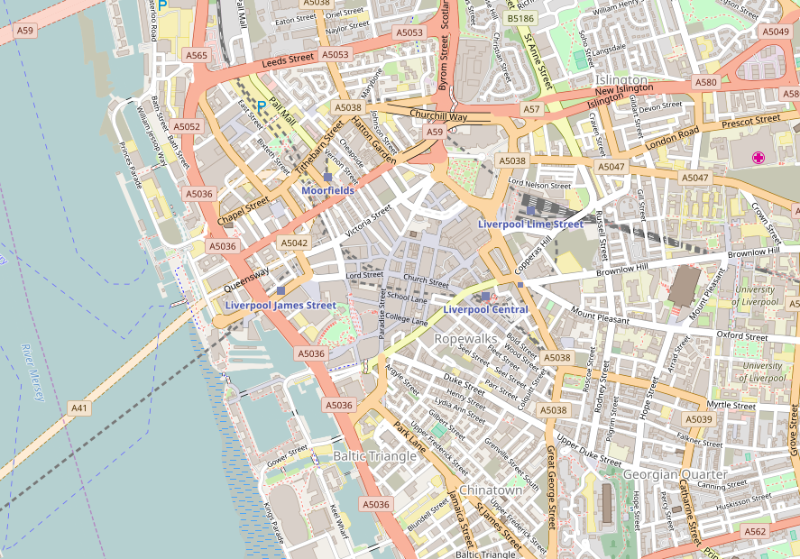 Beautiful OpenStreetMap map