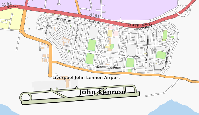 Liverpool John Lennon Airport and Speke Housing Estate