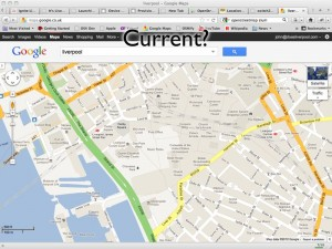 Google Map of Liverpool showing places that are no longer pertinent